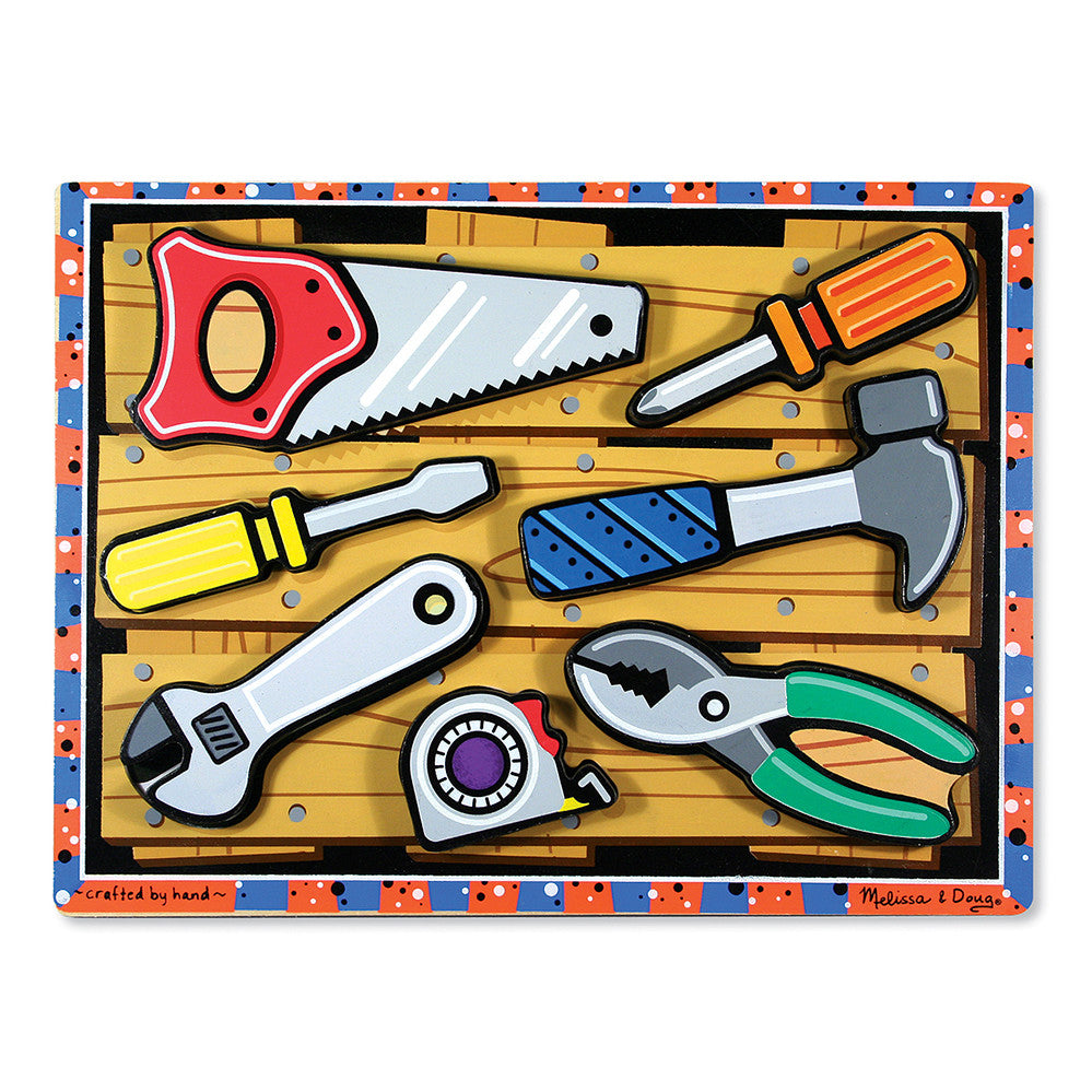 Melissa and Doug: Tools Chunky Puzzle - Melissa and Doug - Little Funky Monkey