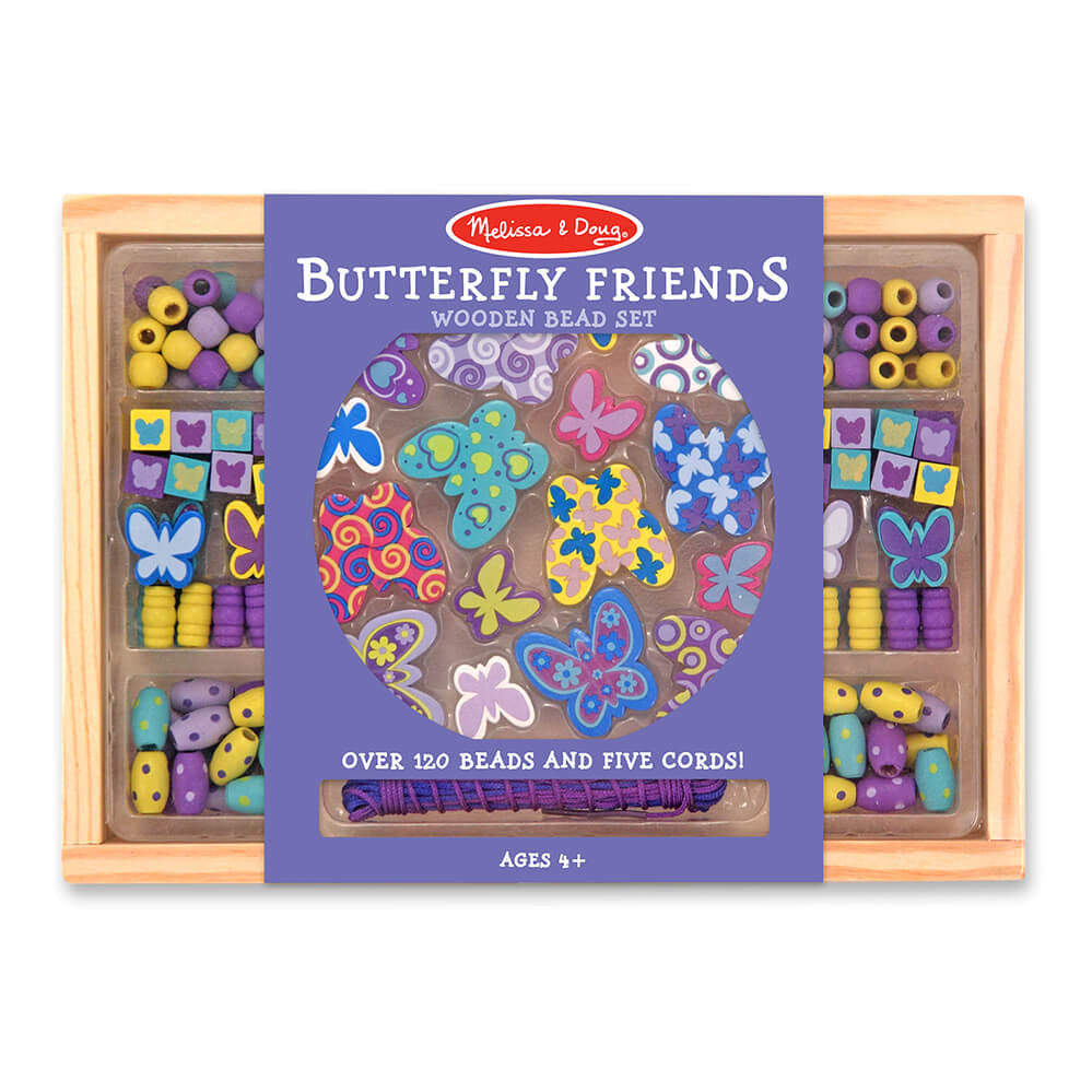 Melissa and Doug: Butterfly Friends Wooden Bead Set - Melissa and Doug - Little Funky Monkey - 1