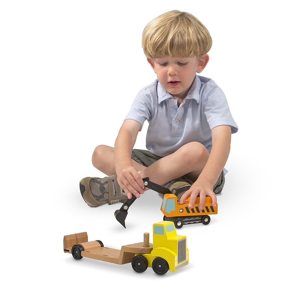 Melissa and Doug: Trailer & Excavator - Melissa and Doug - Little Funky Monkey - 1