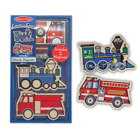 Melissa and Doug: Wooden Vehicle Magnets - Melissa and Doug - Little Funky Monkey