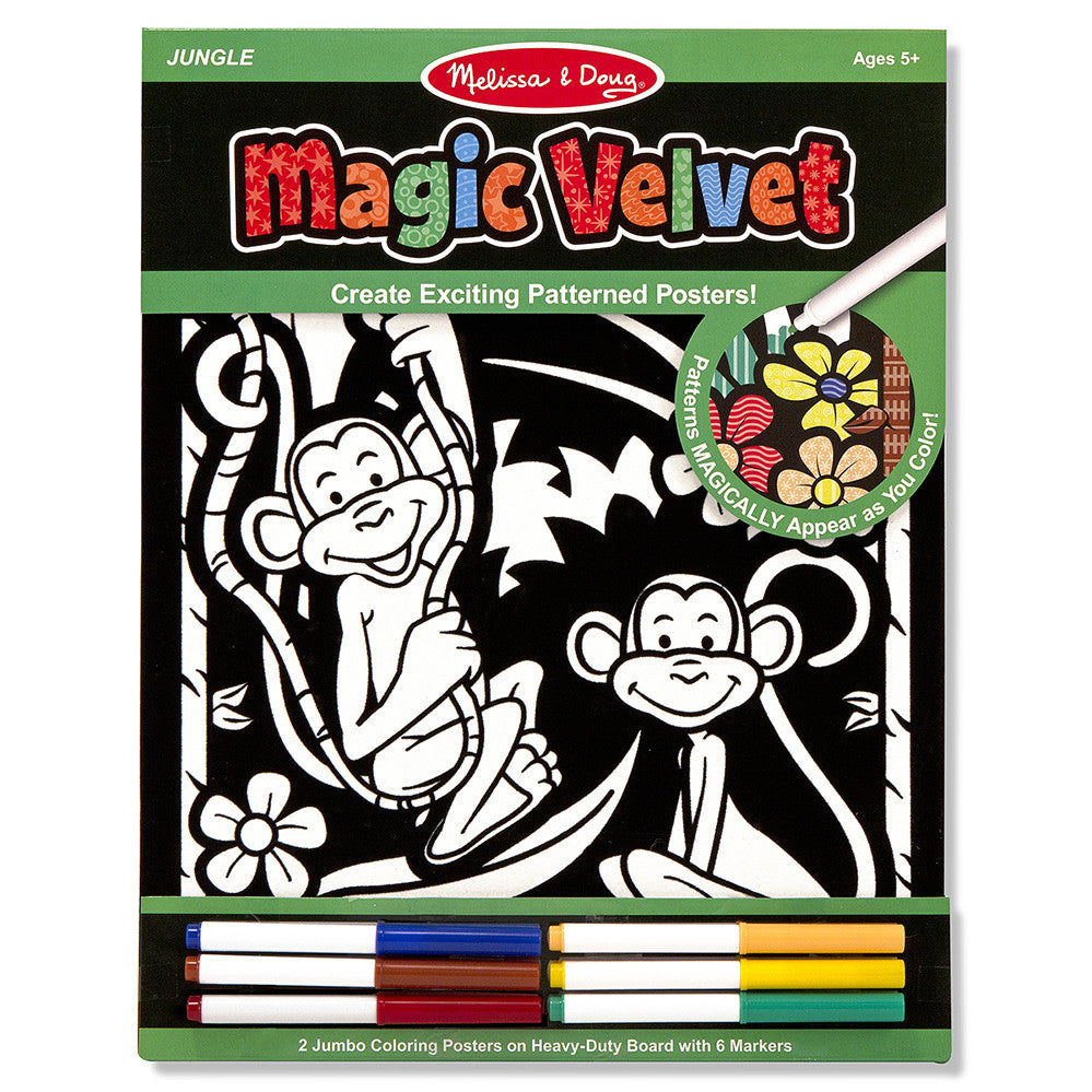 Melissa and Doug: Magic Velvet Posters Jungle - Melissa and Doug - Little Funky Monkey