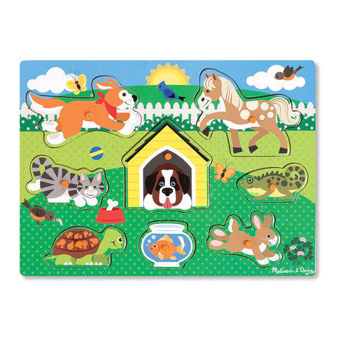 Melissa and Doug: Friendly Pets Peg Puzzle - Melissa and Doug - Little Funky Monkey