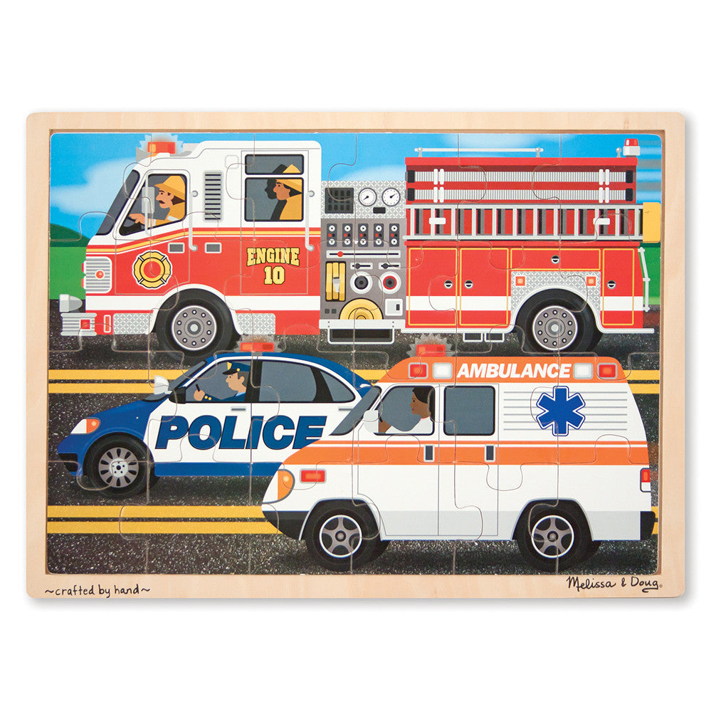 Melissa and Doug: To The Rescue Jigsaw Puzzle - Melissa and Doug - Little Funky Monkey - 1