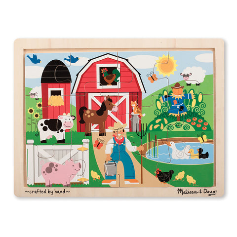 Melissa and Doug: Farm Fun Jigsaw Puzzle - Melissa and Doug - Little Funky Monkey