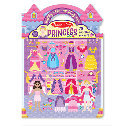 Melissa and Doug: Princess Puffy Sticker Play Set – Little ...