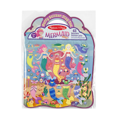 Melissa and Doug: Puffy Stickers Mermaid - Melissa and Doug - Little Funky Monkey - 1