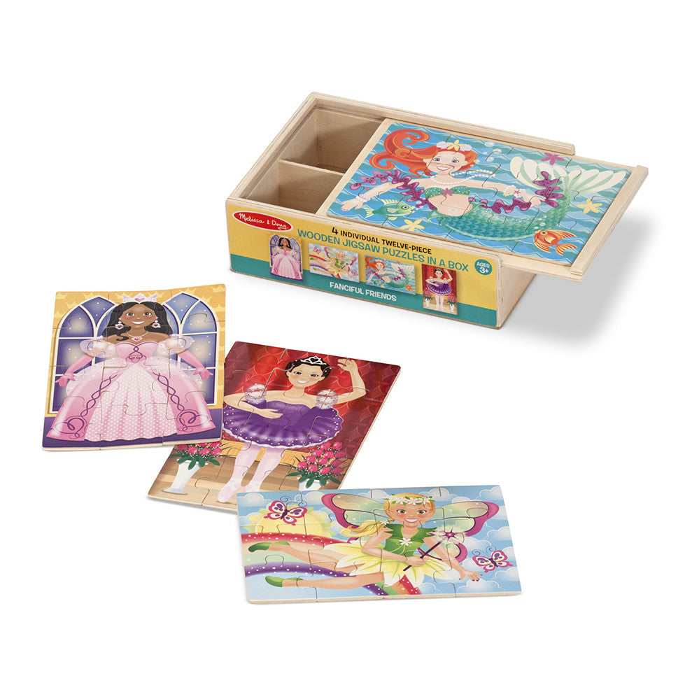 Melissa and Doug: Fanciful Friends Puzzle in a Box - Melissa and Doug - Little Funky Monkey