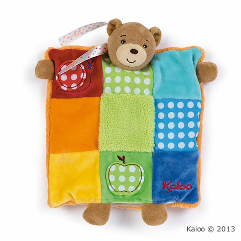 Kaloo: Colours Doudou Bear Patchwork - vendor-unknown - Little Funky Monkey - 1