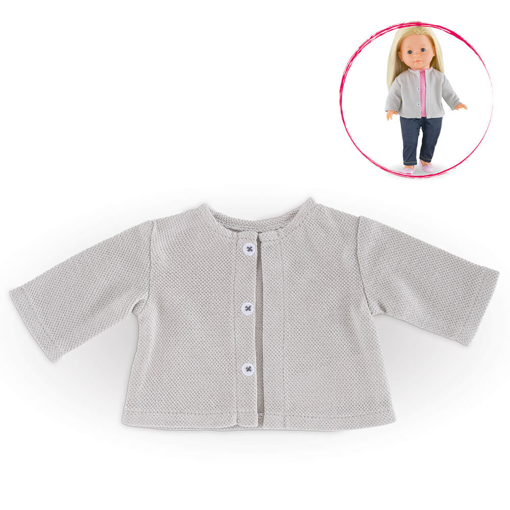 Corolle 36cm Light Grey Cardigan Ma Corolle