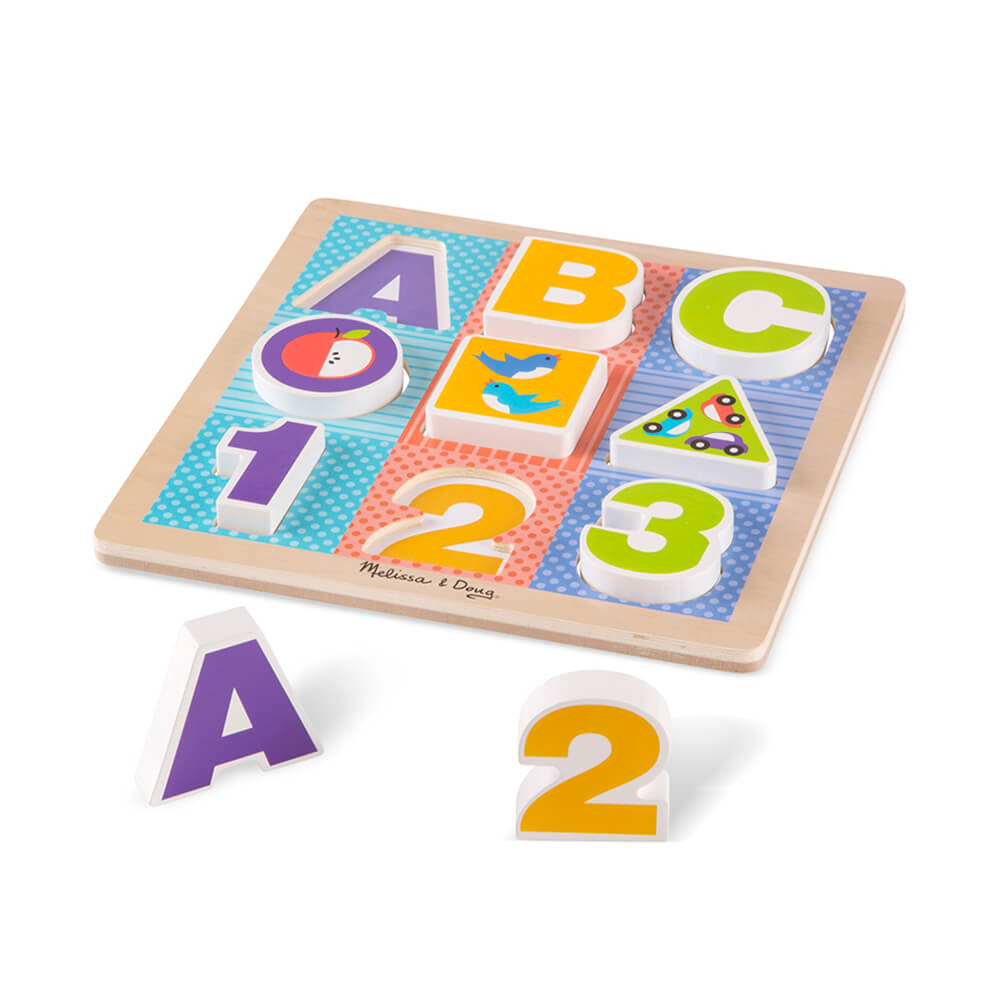 Melissa and Doug ABC/123 Chunky Puzzle
