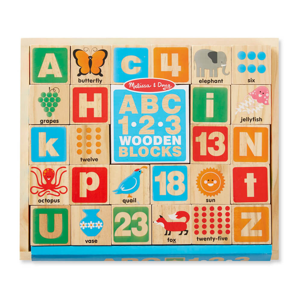 Melissa and Doug ABC/123 Wooden Blocks