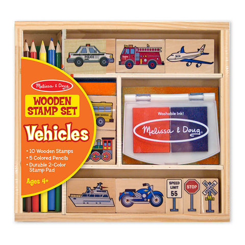 Melissa and Doug: Vehicle Stamp Set - Melissa and Doug - Little Funky Monkey - 1