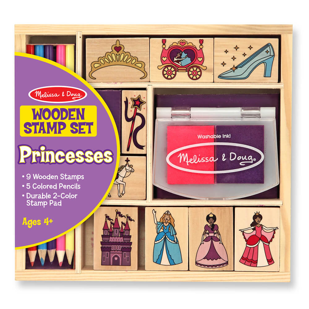 Melissa and Doug: Wooden Princess Stamp Set - Melissa and Doug - Little Funky Monkey - 1