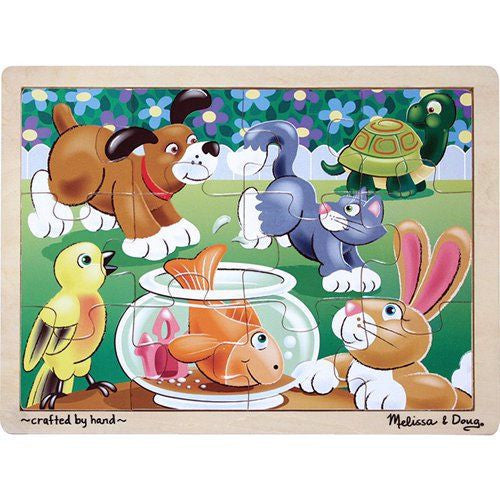 Melissa and Doug: Playful Pets Jigsaw 12pc - Melissa and Doug - Little Funky Monkey