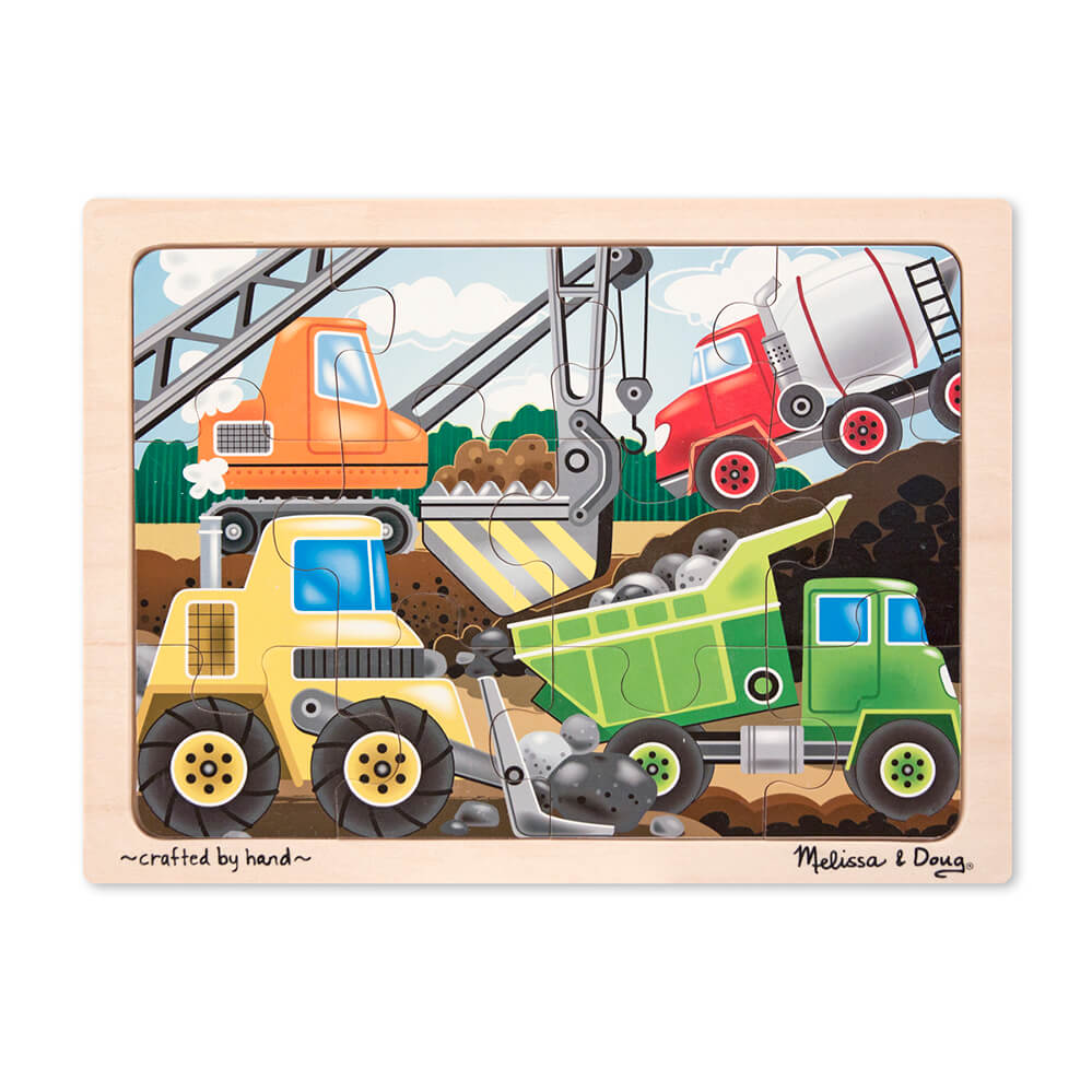 Melissa and Doug Construction Site Jigsaw 12pc