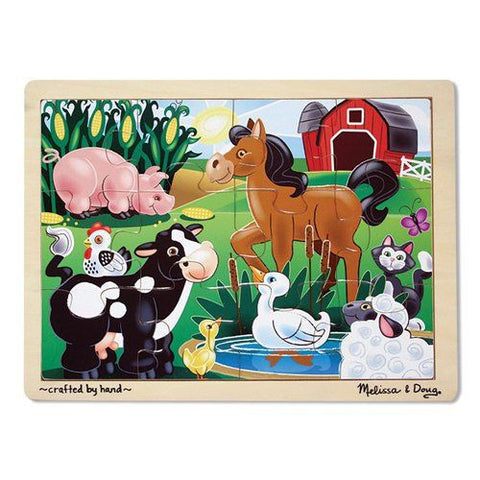 Melissa and Doug: On the Farm Jigsaw 12pc - Melissa and Doug - Little Funky Monkey
