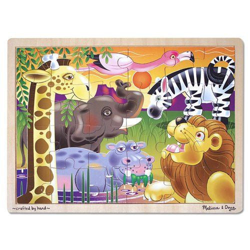 Melissa and Doug: African Plains Jigsaw 24pc - Melissa and Doug - Little Funky Monkey