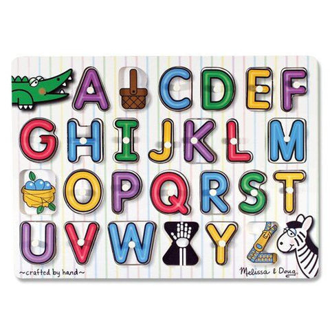 Melissa and Doug: See Inside Alphabet Peg Puzzle - Melissa and Doug - Little Funky Monkey