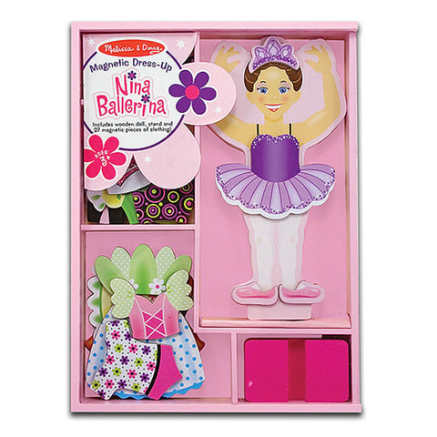Melissa and Doug Nina Ballerina Magnetic Dressup