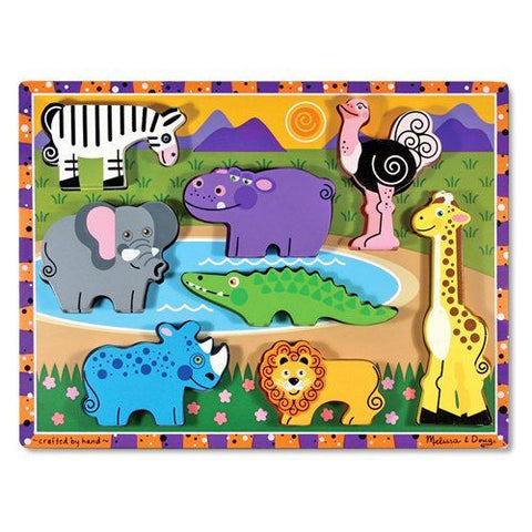 Melissa and Doug: Safari Chunky Puzzle - Melissa and Doug - Little Funky Monkey