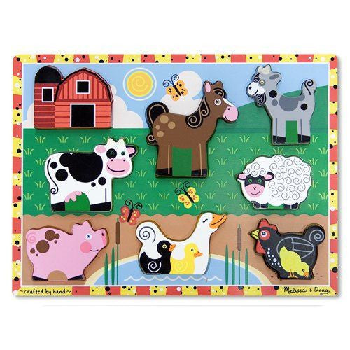 Melissa and Doug: Farm Chunky puzzle - Melissa and Doug - Little Funky Monkey