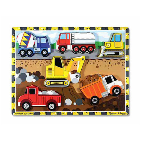 Melissa and Doug: Construction Chunky Puzzle