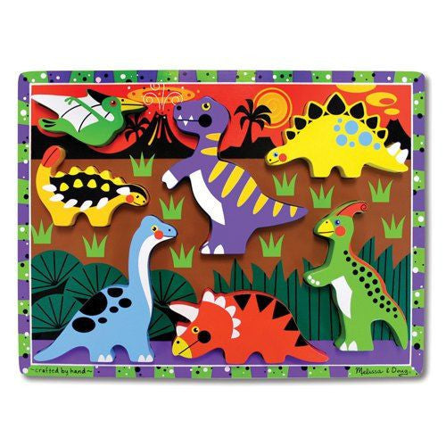 Melissa and Doug: Dinosaurs Chunky Puzzle - Melissa and Doug - Little Funky Monkey
