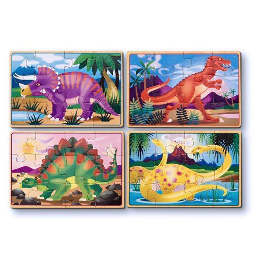 Melissa and Doug: Dinosaurs Puzzles in a Box - Melissa and Doug - Little Funky Monkey