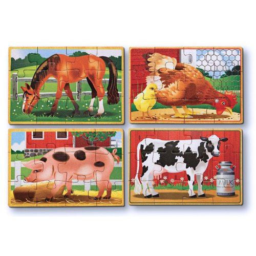 Melissa and Doug: Farm Puzzles in a Box - Melissa and Doug - Little Funky Monkey