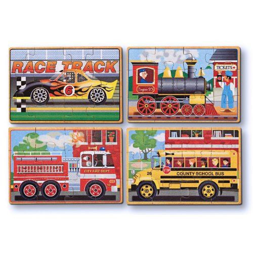 Melissa and Doug: Vehicles Puzzles in a Box - Melissa and Doug - Little Funky Monkey