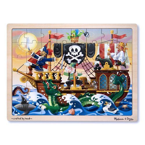 Melissa and Doug: Pirate Adventure Jigsaw 48pc - Melissa and Doug - Little Funky Monkey