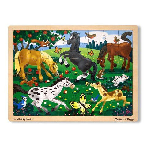 Melissa and Doug: Frolicking Horses Jigsaw 48pc - Melissa and Doug - Little Funky Monkey
