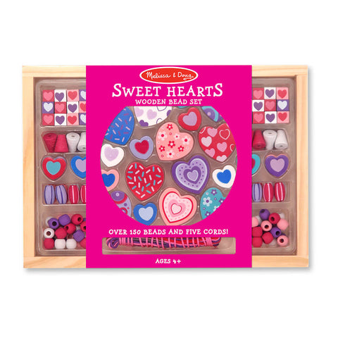 Melissa and Doug: Sweet Hearts Wooden Bead Set - Melissa and Doug - Little Funky Monkey - 1
