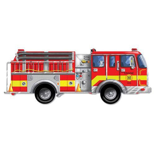 Melissa and Doug: Fire Truck Floor Puzzle 24pc - Melissa and Doug - Little Funky Monkey