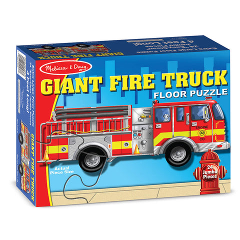 Melissa and Doug Fire Truck Floor Puzzle 24pc