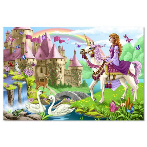 Melissa and Doug: Fairy Tale Castle Floor Puzzle 48pc - Melissa and Doug - Little Funky Monkey