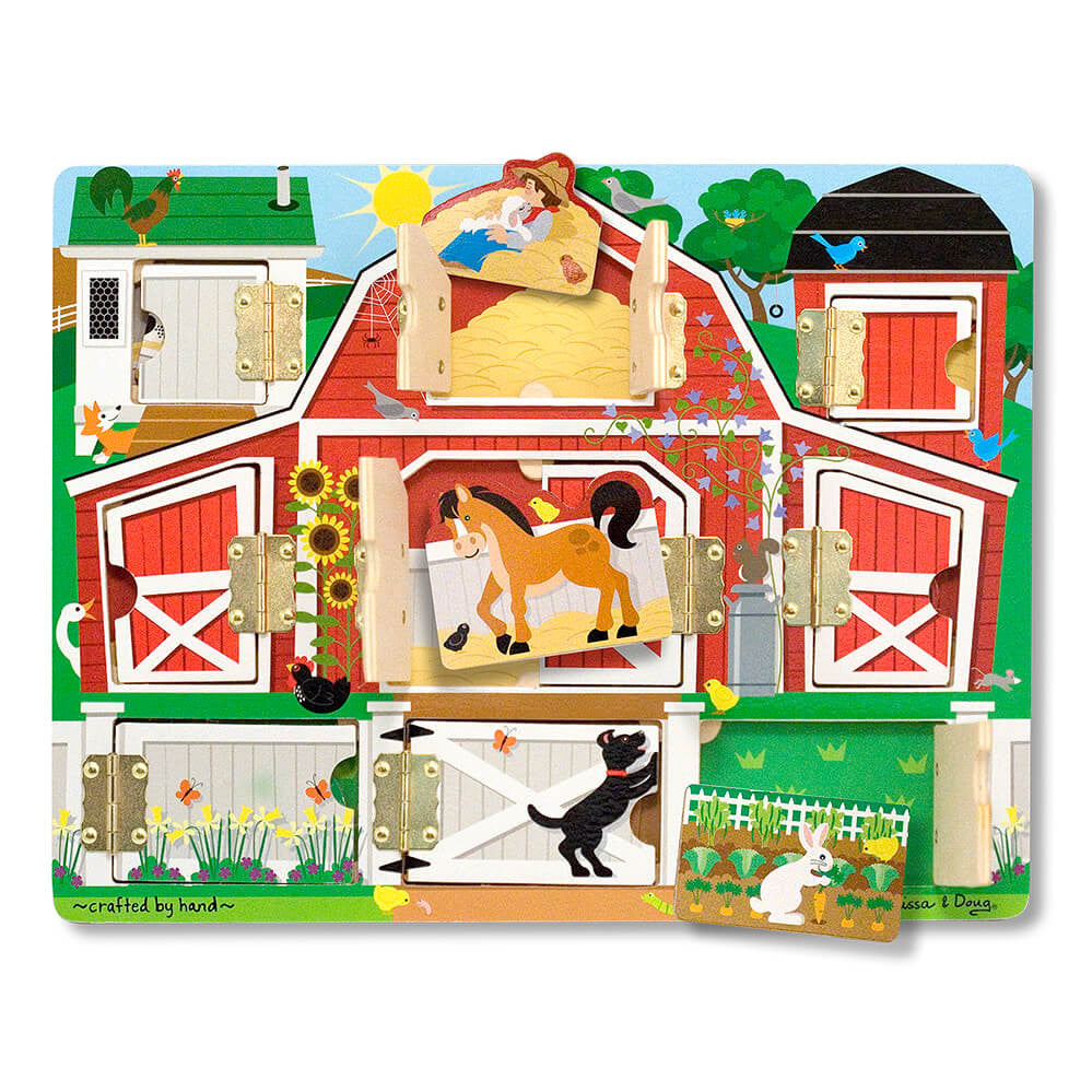 Melissa and Doug: Magnetic Farm Hide & Seek Board - Melissa and Doug - Little Funky Monkey - 1