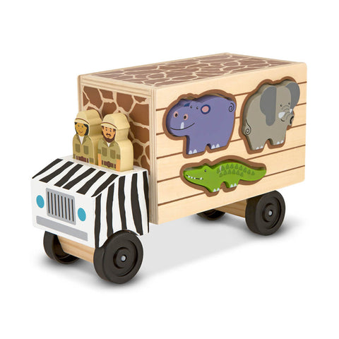 Melissa and Doug: Animal Rescue Shape Sorting Truck - Melissa and Doug - Little Funky Monkey - 1
