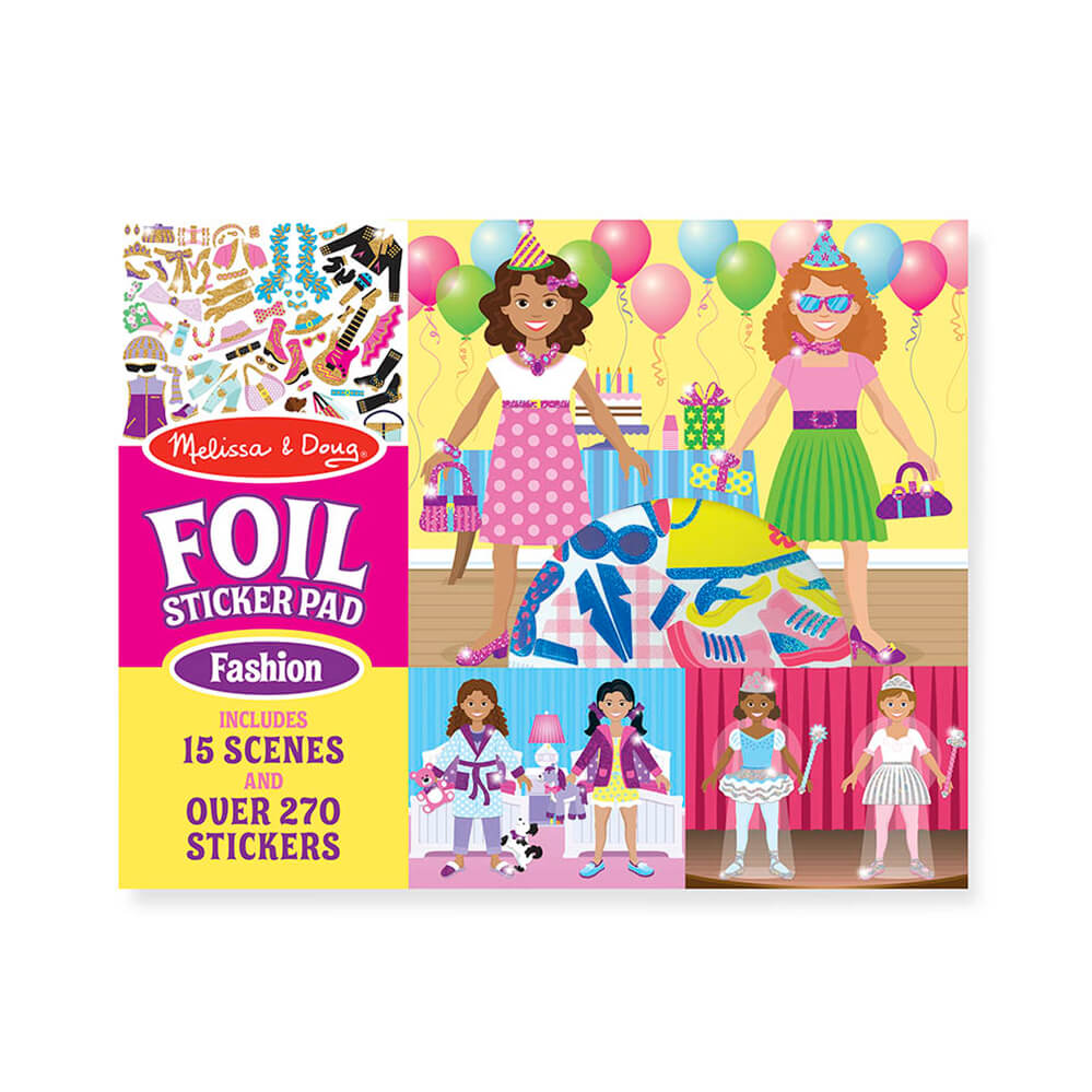 Melissa and Doug Fabulous Fashion Foil Sticker Pad