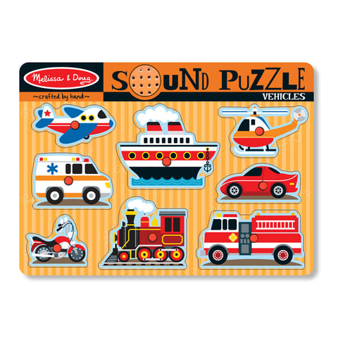 Melissa and Doug: Vehicles Sound Puzzle - Melissa and Doug - Little Funky Monkey - 1