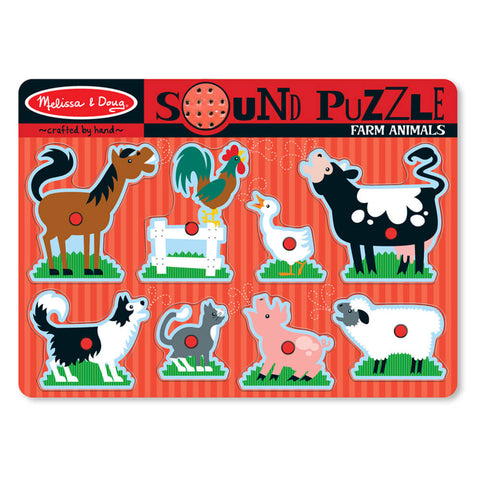Melissa and Doug: Farm Animals Sound Puzzle - Melissa and Doug - Little Funky Monkey - 1