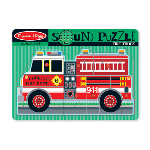 Melissa and Doug: Fire Truck Sound Puzzle - Melissa and Doug - Little Funky Monkey - 1