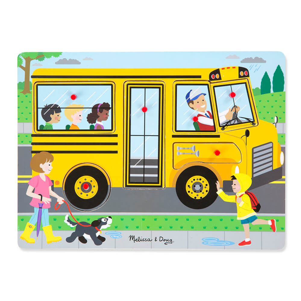Melissa and Doug The Wheels on the Bus Sound Puzzle