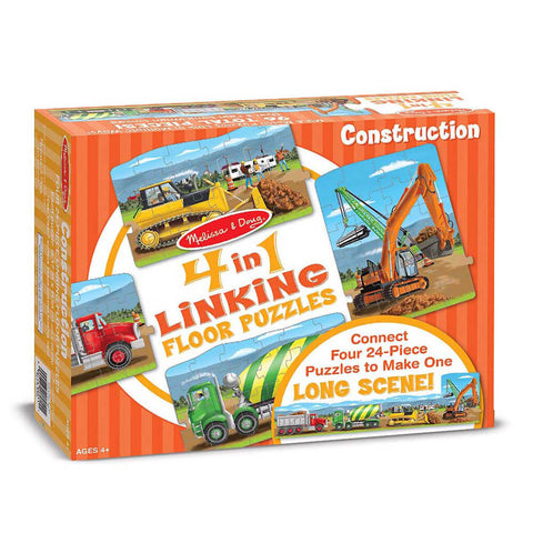 Melissa and Doug Construction Linking Floor Puzzle 96pc