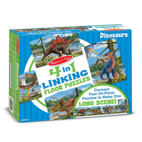 Melissa and Doug Dinosaurs Linking Floor Puzzle 96pc