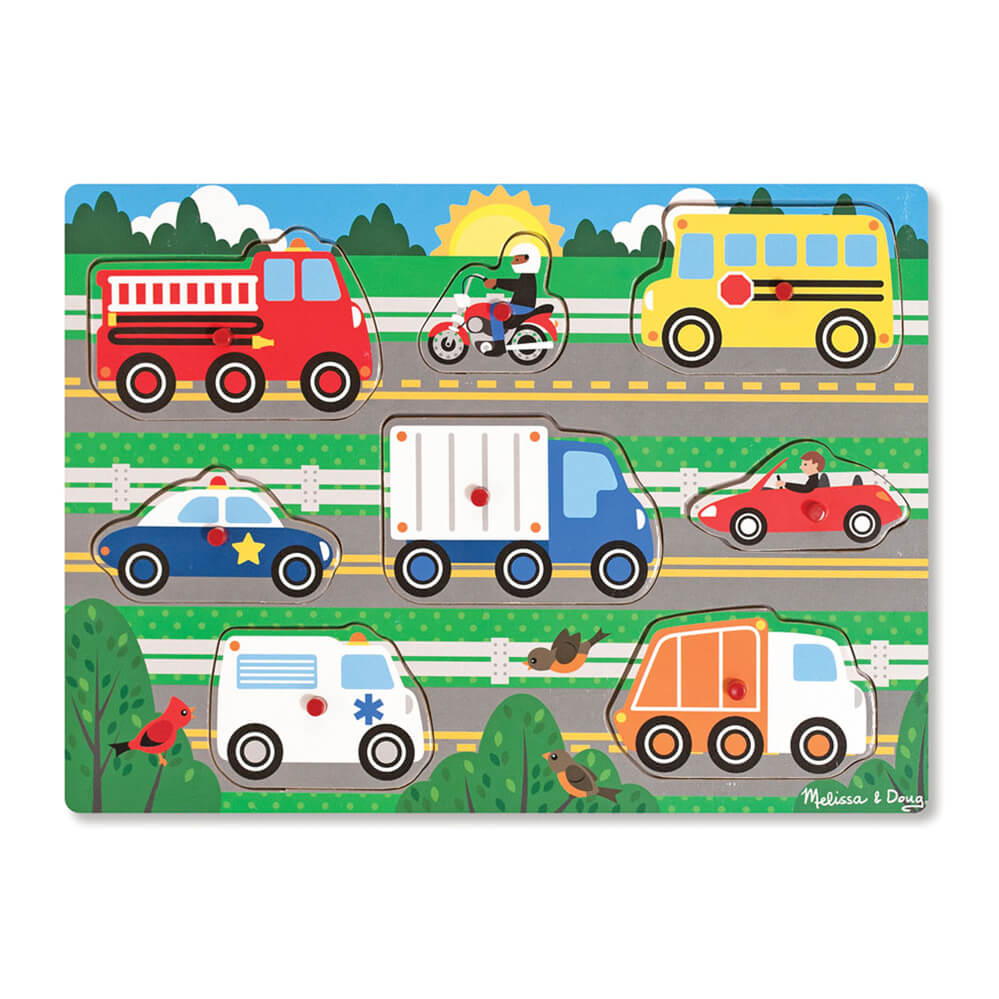 Melissa and Doug: Vehicles Peg Puzzle
