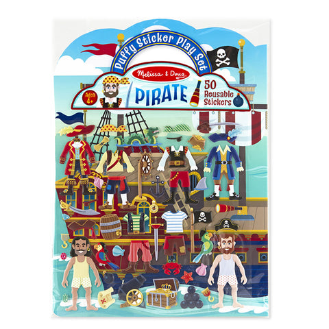 Melissa and Doug: Pirate Puffy Sticker Play Set - Melissa and Doug - Little Funky Monkey