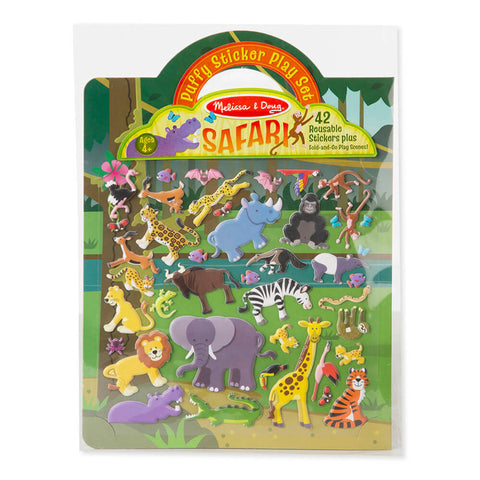 Melissa and Doug Safari Puffy Sticker Set