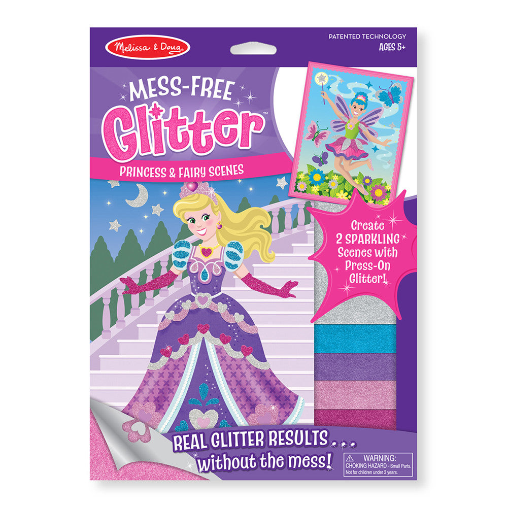 Melissa and Doug: Princess and Fairy Scenes Mess Free Glitter - Melissa and Doug - Little Funky Monkey - 1