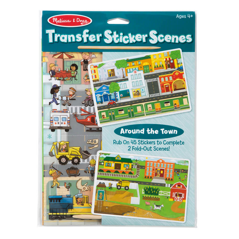 Melissa and Doug Around the Town Transfer Sticker Scenes